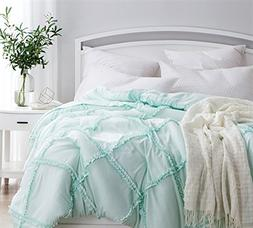 Byourbed BYB Hint of Mint Gathered Ruffles - Handcrafted Ser