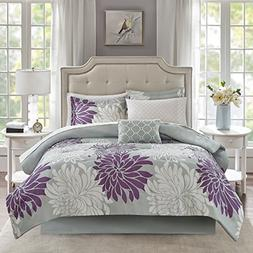 california king purple grey comforter