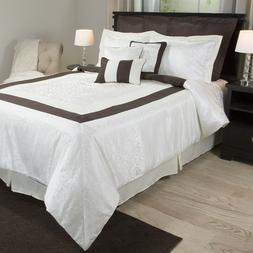 Camille 10 Piece Comforter Set with Bed Skirt Shams Pillows