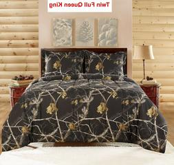Realtree Camo Bedding Comforter Set with SHAMS  Twin Full Qu