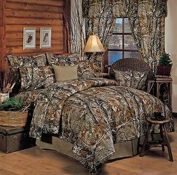 Realtree Camo Camouflage Comforter Set - Bedding Shams Skirt