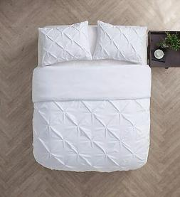 VCNY Home Carmen Pintuck 4 Piece Bedding Comforter Set, King