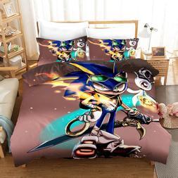 Cartoon Bedding <font><b>Set</b></font> Kids Sonic The Hedge
