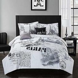 "Casa Comforter Sets Paris Set, Full/Queen, 5 Piece Home "" Ki"