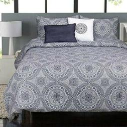 Raymond Waites Caselli 5-Piece QUEEN Comforter Set Cotton Sa