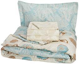 Discoveries Casual Sea Breeze Comforter Set, Twin, Blue
