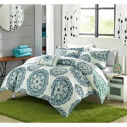 Chic Home Catalonia Medallion Reversible 8-piece Bed in a
