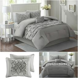 Comfort Spaces Queen Comforter Set Tufted Pattern - Cavoy Co
