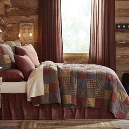 Cedar Ridge King 3 Pc Quilt Set Patchwork Quilted Bedspread+