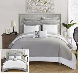 Chic Home 10 Piece Charlene MODERN TWO TONE REVERSIBLE HOTEL