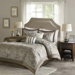 Comfort Spaces Charlize Jacquard 5 Piece Comforter Set