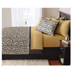 New Cheetah Queen Size Comforter Set Bedding Bedspread With