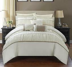 Chic Home Cheryl 10 Piece Comforter Complete Bag Pleated Ruc