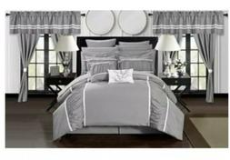 Chic Home Mayan 24 Piece Bed In A Bag Comforter Set - Gray -