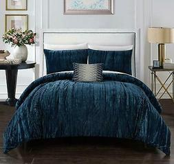 Chic Home Westmont 4 Piece Comforter Set Crinkle Crushed Vel