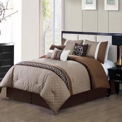 Chic Ruhi Comforter Set Luxury Bedding Sets Includes: 7-Piec