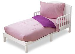 Toddler Bedding Set | Girls 4 Piece Collection | Fitted Shee