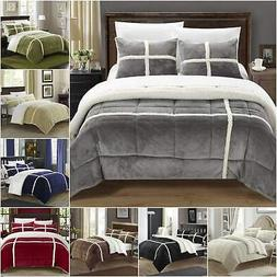 Chic Home Chloe 3 Piece Comforter Set Plush Micro Mink Sherp