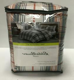 classic plaid 2 piece comforter set cotton