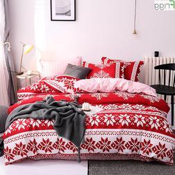 Classic Red Printed Merry Christmas <font><b>Comforter</b></