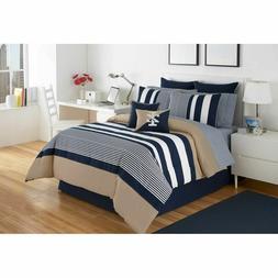 IZOD Classic Stripe Comforter Set Comforters Bedding Extra S