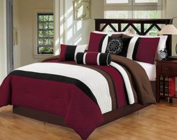 Luxlen Closeout 7 Piece Bed/Comforter in a Bag