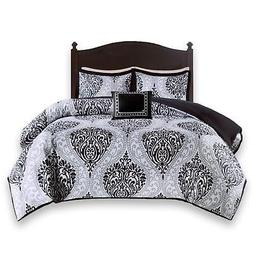Comfort Spaces - Coco Twin Comforter Set - 3 Piece - Black a
