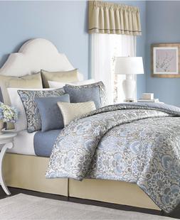 Martha Stewart Collection Amora 22 Pc QUEEN Comforter Set BL