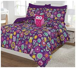 Twin & Full 6 Pcs or 8 Pcs Comforter/ Coverlet / Bed in Bag