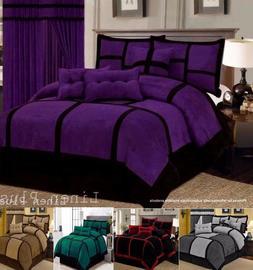 Linen-Plus-Collection Patchwork Micro Suede Comforter Set Al
