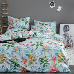 Colorful Flower Duvet Cover Set Comforter Cover Bedding Sets