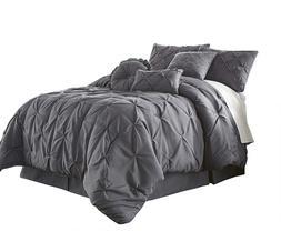 com sydney 7 piece pintuck bedding comforter