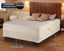 Comfort Pedic Extra Firm Eurotop King Size Mattress and Box