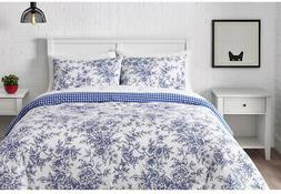 Comforter and Pillow Set Cotton-Polyester Blend Fabric Queen