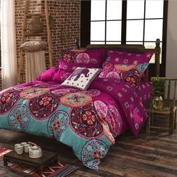 Comforter Bedding Set 4pcs 3D King Queen Quilt Pillow Single