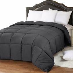Comforter Down Alternative Grey All Season Duvet Stitched In
