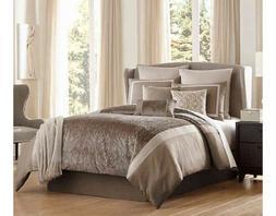 Comforter King Set 10 Piece Janella Grey/Taupe