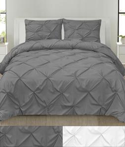 Comforter & Pillow Sham Set - Hudson 3 PC Pinch Pleat Pintuc