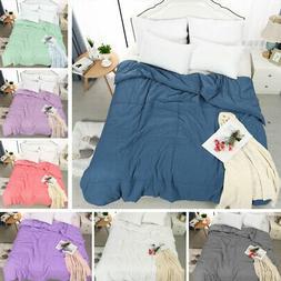 Soft Warm Microfiber Quilt Bedding Down Alternative Comforte