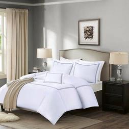 5 Piece Comforter Set, King, Grey