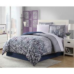 Comforter Set 8 Pc Floral Patterns Foliage Plush Soft Comfy