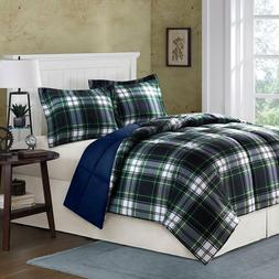 Comforter Set CALIFORNIA KING Navy Blue 2 Shams Microfiber B