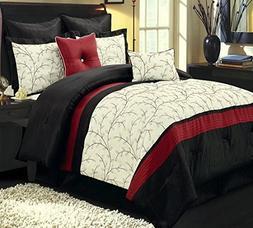 Comforter Set 8 Piece Olympic Queen Size Luxury Complete Bed