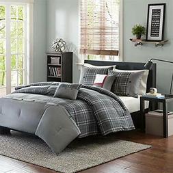 Comforter Sets Daryl 5 Piece Set, Grey, King/California Home