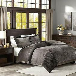 Comforter Sets Parker Corduroy Plush Mini Grey King/Cal Home