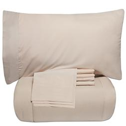 Sweet Home Collection 7 Piece Comforter/Sheet Set, Twin/X-La