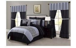 Amari Comforter Super Set Queen 30 Piece Reversible Pillow S