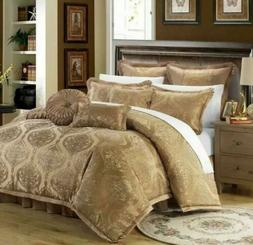 Chic Home 9 Piece Como Decorator Upholstery Quality Jacquard