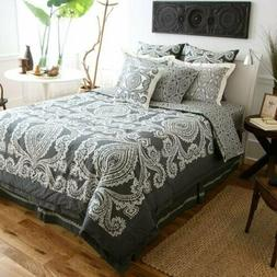 Amy Butler Constanta Comforter and Sham Set Black/Gray Full/