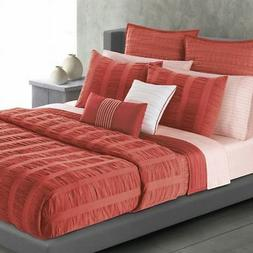Apt 9 Coral Salmon Ripple Twin Comforter Set with Sham 2 Pie